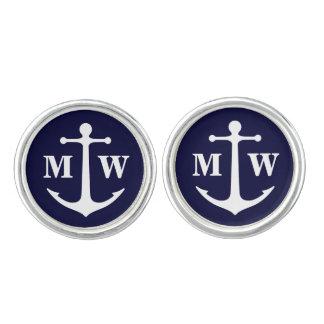 2 Custom Initials Anchor Monogram Cufflinks