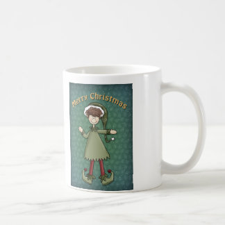 2 cute Elf drawings - Christmas Design Mug