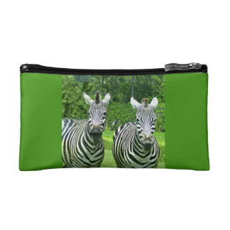 2 Cute Zebras Cosmetic Bag