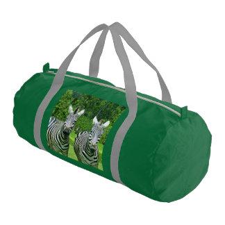 2 Cute Zebras Gym Bag