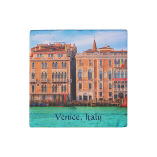 2 Famous Palaces From San Marco - Venice, Italy Stone Magnet