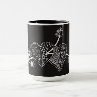2 Fancy Hearts Coffee Mug by Julie Everhart