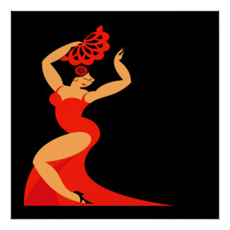 #2 Flamenco Dancer Poster Lg.