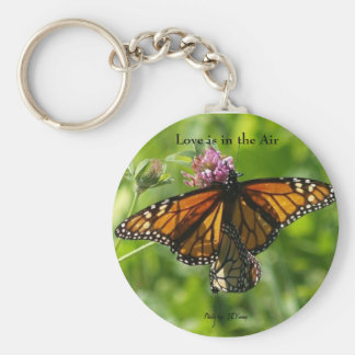 2 for 1 photo butterflies, Love is in the Air, ... Basic Round Button Key Ring
