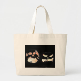 2 Glowing Jack-O-Lanterns Canvas Bag