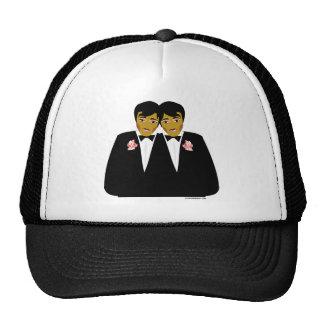 2 Grooms Ethnic Trucker Hat