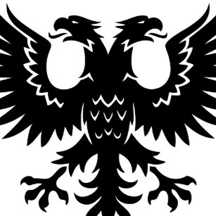 2 Headed Eagle Square Sticker