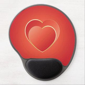 2 hearts gel mousepad