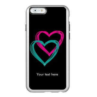 """2 hearts"" iPhone 6 Feather® Shine, Silver Incipio Feather® Shine iPhone 6 Case"