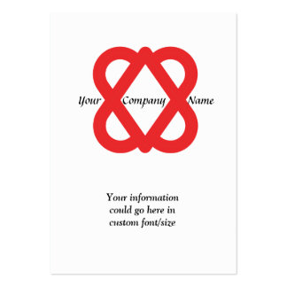 2 hearts logo large business cards (Pack of 100)
