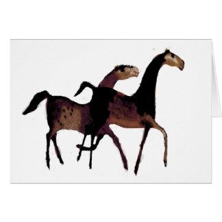 2 Horses Card