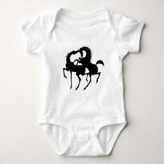 2 horses  love baby bodysuit
