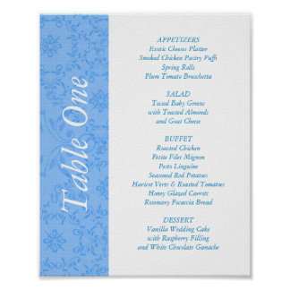 2-in-1 Wedding Reception Table Toppers & Menus Posters