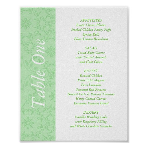 2-in-1 Wedding Reception Table Toppers & Menus Print