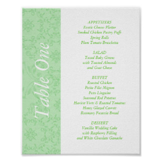 2-in-1 Wedding Reception Table Toppers Menus Print