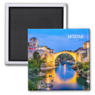2 Inch Square Magnet Mostar
