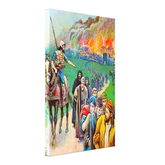 2 Kings 25 Judah Taken Captive to Babylon Canvas Stretched Canvas Prints