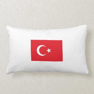 2 kissing Turkish flag. Lumbar Cushion