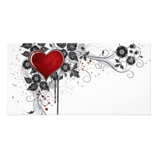 2 love vectors personalized photo card