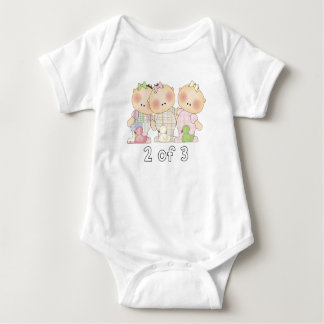 2 of 3 Triplet Cuties Baby Bodysuit