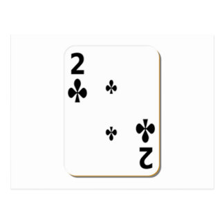 2 of Clubs Playing Card Postcard
