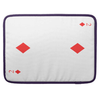 2 of Diamonds Sleeves For MacBook Pro