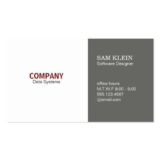 2 Panel Dim Grey Pack Of Standard Business Cards