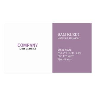 2 Panel Lilac Pack Of Standard Business Cards