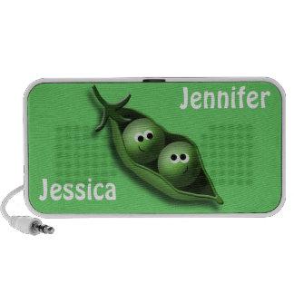 2 Peas in a Pod Best Friends Green Doodle Speaker