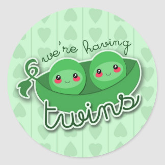 2 PEAS in a POD TWINS - sticker
