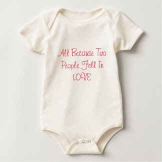 2 people in love baby bodysuit