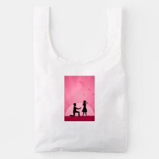 2 people in love illustration baggu reusable bag
