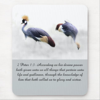 2 Peter 1:3 glory virtue life godliness bible word Mouse Pad