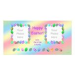 2 Photo Painted Easter Eggs Custom Photo Card