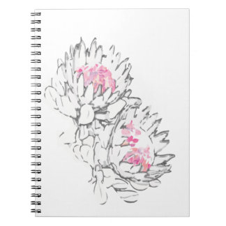 2 Pprotea pink Grey - Note book