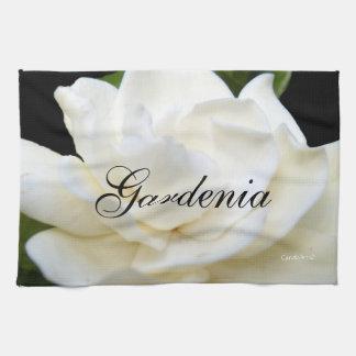 2 Pure White Gardenia Hand Towels