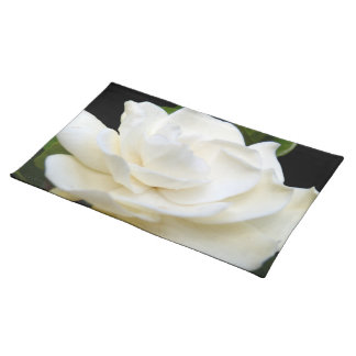 2 Pure White Gardenia Placemat