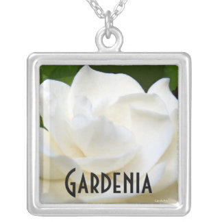 2 Pure White Gardenia Silver Plated Necklace