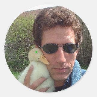 2 Quacks — PDValentine w/demonic duck! Round Stickers