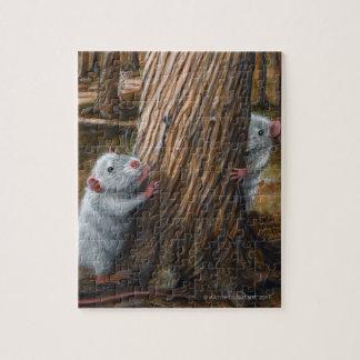 2 Rats hiding tree puzzle