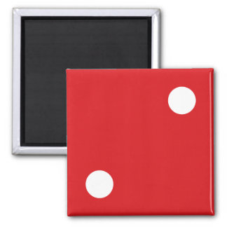 2 Red Dice Magnet