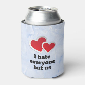 2 Red Hearts - I Hate Everyone But Us Typography Can Cooler