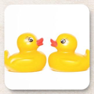 2 rubber ducks in love coasters
