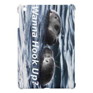 """2 Seals: """"Wanna Hook Up"""" (Making a Pass) Case For The iPad Mini"""