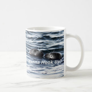 "2 Seals: ""Wanna Hook Up"" (Making a Pass) Coffee Mug"