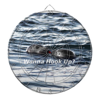 "2 Seals: ""Wanna Hook Up"" (Making a Pass) Dartboard"