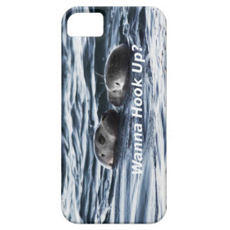 """2 Seals: """"Wanna Hook Up"""" (Making a Pass) iPhone 5 Cover"""
