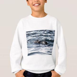 """2 Seals: """"Wanna Hook Up"""" (Making a Pass) Sweatshirt"""
