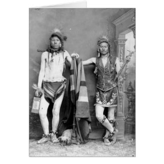 2 Shoshone Men Card