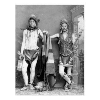 2 Shoshone Men Postcard